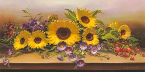 Komposition mit Sonnenblumen