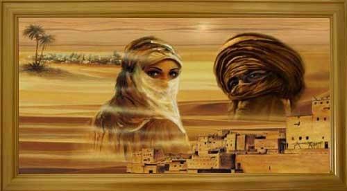 Tuareg, Wüstenstadt Wandbild