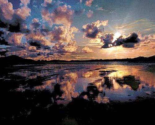 Sonnenuntergang am See*