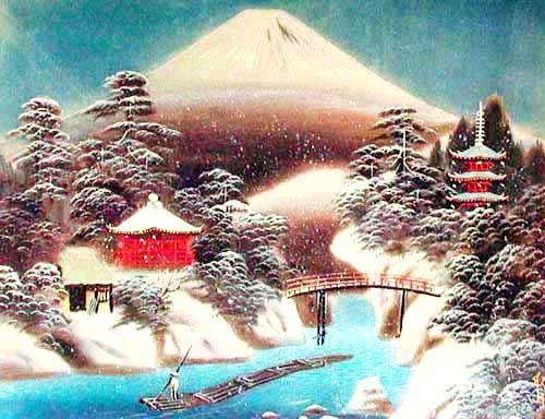 Winter Scene at Mt. Fuji by Shugetsu