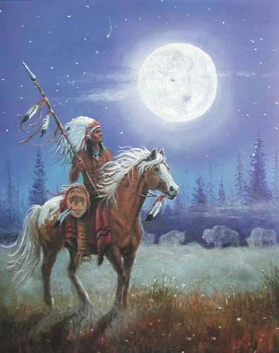 Indianer und Buffalomond by M.Caroselli