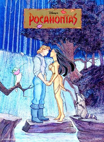 Pocahontas und John Alu Postkarte