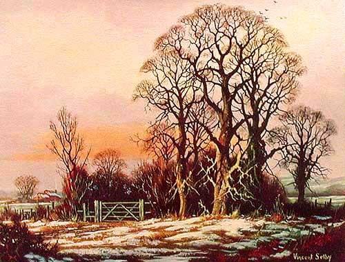 Winter von Vincent Selby- Alu Bild