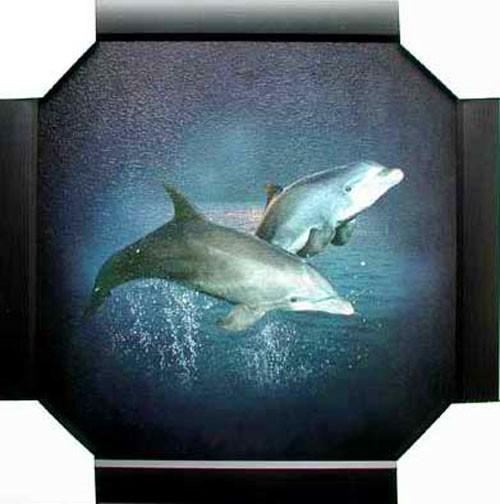 Delfine Wandbild