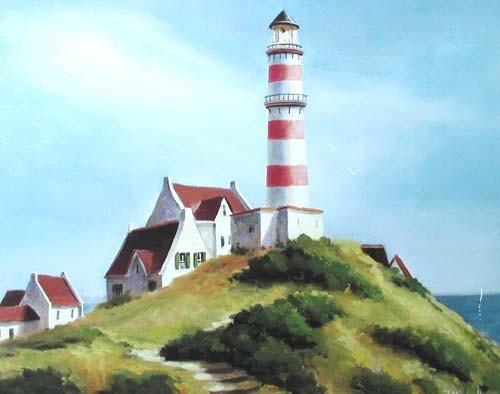 Rot-weißer Leuchtturm von J. Michelle