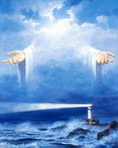 Jesus und Leuchtturm