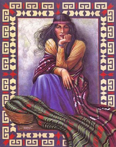 Navajo Indianerin Poster 40x50