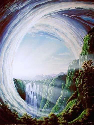 Mystische Welt von Huber Poster 40x50