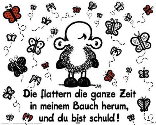 Sheepworld Schmetterlinge Poster 40x50 cm