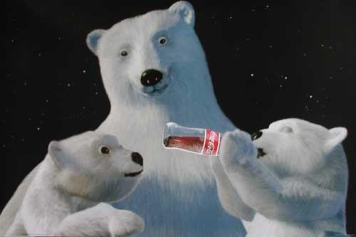 Coca-Cola Polar Bear Close