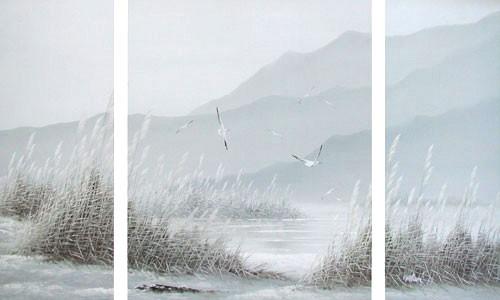 Wasserlandschaft und Möwen by William