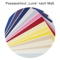 Günstiges Passepartout nach Maß der Serie Luna