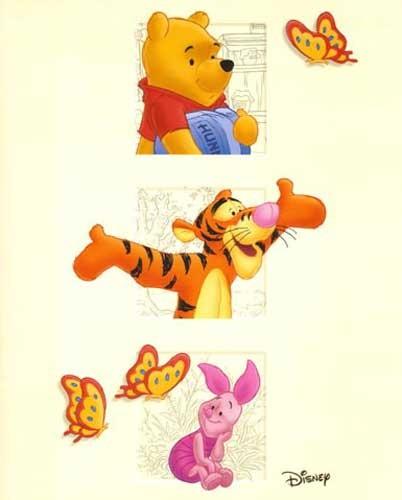 Winnie Puuh, Ferkel, Tigger Poster