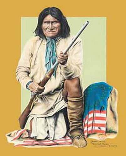 Geronimo, 1829-1909, Chef des Apaches Chiricahuas