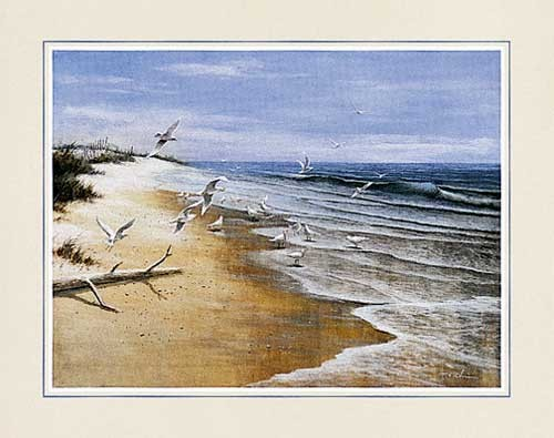 Einsamer Strand von Chiu Kunstdruck 56x71 cm