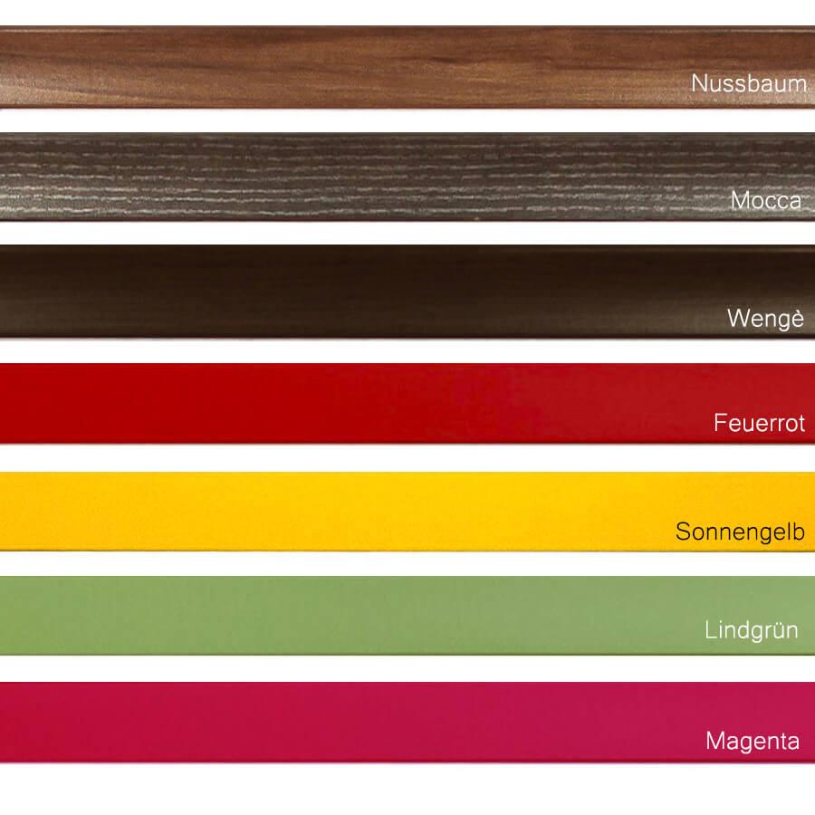 Bilderrahmen quadratisch 25x25 cm, Aquarell in vielen Farben günstig