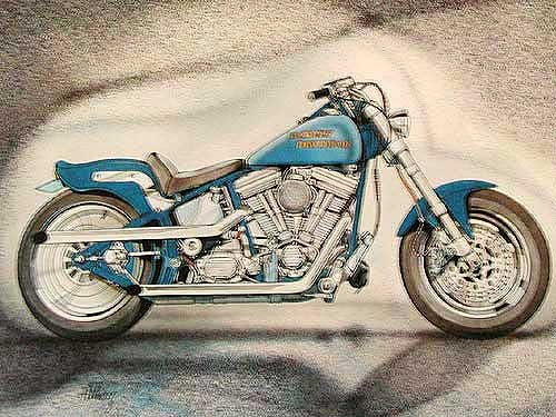 Harley Davidson Alubild