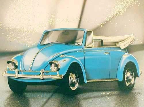 VW Cabrio, blau