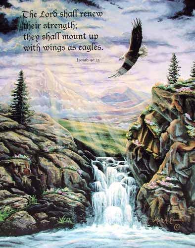 Adlerbild mit Spruch Poster