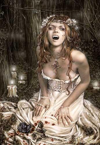 Vampire Girl Victoria Frances Poster
