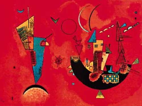 """Reproduktion """"Mit und Gegen"""" von Kandinsky Wassily Kunstdruck 70x100 cm"""