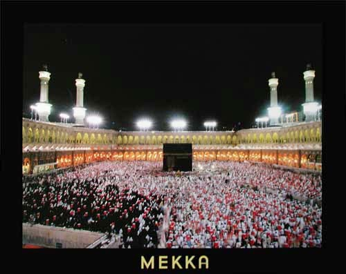 Mekka bei Nacht Kunstdruck 56x71 cm