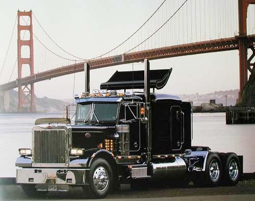 Peterbilt at Golden Gate by Richard Stockton