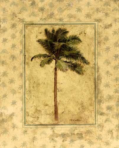 Tropische Palme Kunstdruck 20x25 cm