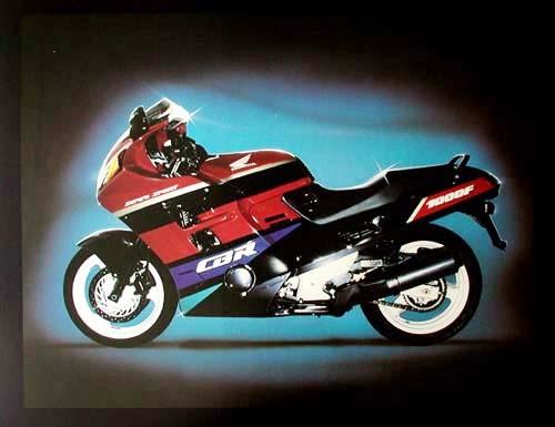 Honda CBR 1000 F, rot Poster