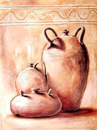 Drei Terracotta Krüge II by M. Wiens *