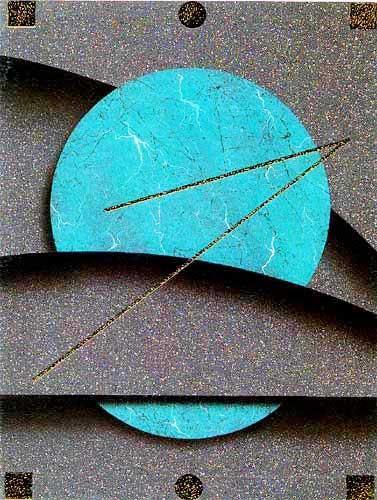 Grüner Kreis mit Abstraktem Hintergrund- Bild 15x20