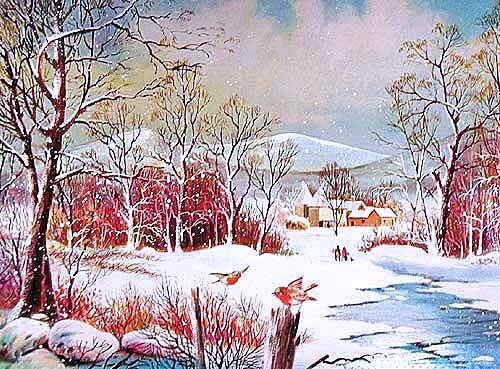 Winterliche Landschaft- Alu Bild 16x21