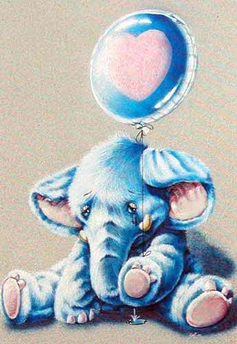 Elefant mit Luftballon *