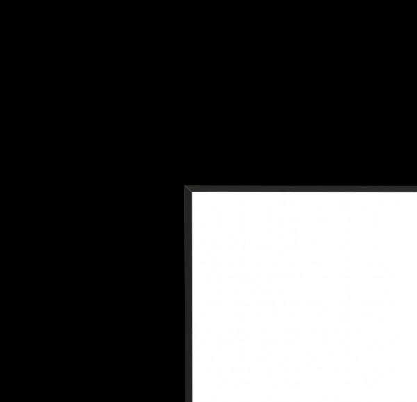 Passepartout mit 1 Ausschnitt 1,4 mm in Schwarz mit Schwarzkern - Standardformate