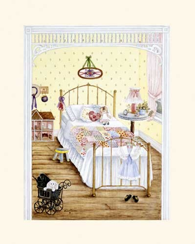 Mädchen-Kinderzimmer Kunstdruck