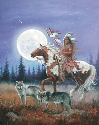 Indianer und Wolfsmond by M.Caroselli