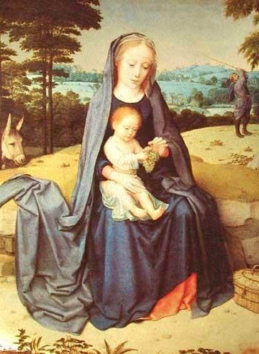 Maria mit Jesuskind Aluminium Druck