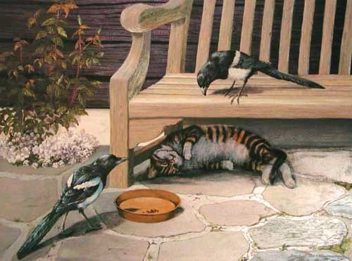 Garden Encounter by Daphne Baxter
