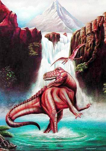 Allosaurus Postkarte