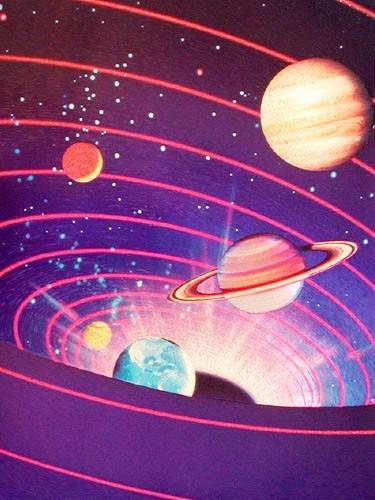 Planets in Solar System Vortex