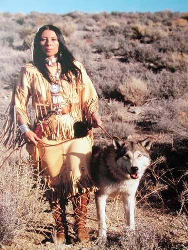 Squaw und Wolf