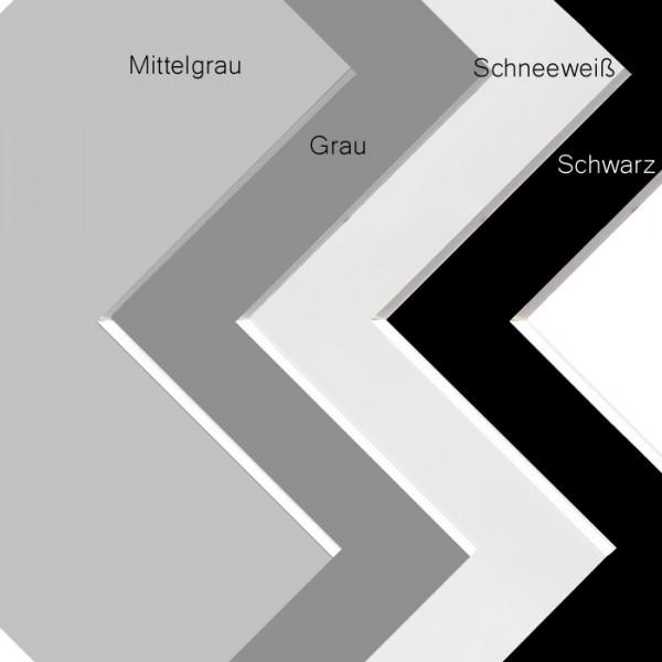 Fertig Passepartout in Weiss, Grau, Schwarz