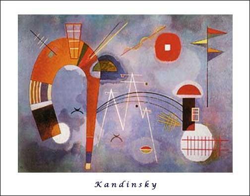 Kunstdruck, Offsetdruck 56x71 cm: Rond et Pointu von Kandinsky Wassily