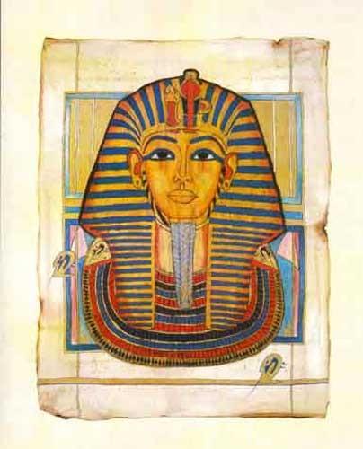 Tutanchamun Maske Kunstdruck 40x50