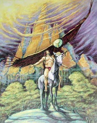 Indianer und Adler by Smancusi*