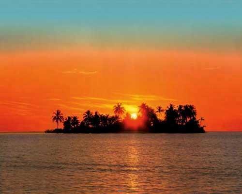 Sonnenaufgang, Sunny Island