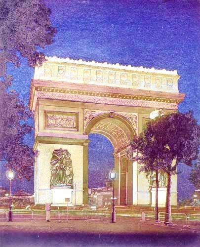 Der Pariser Triumphbogen Alubild