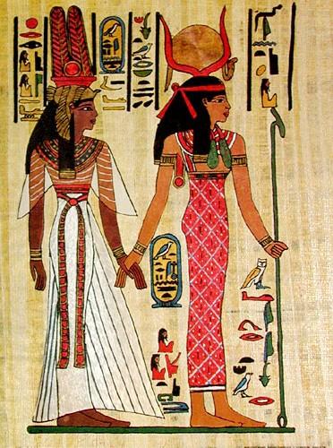 Hathor und Nefertari Alubild
