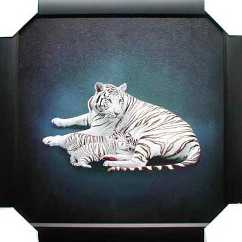 Wandbild Weiße Tiger 56x56 cm