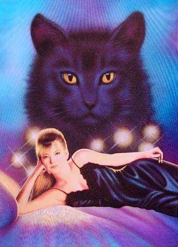 Schwarze Katze Fantasy